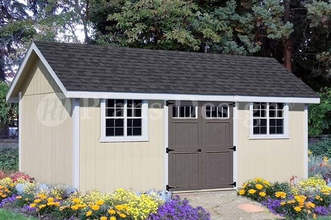 Shed plans blueprints 12 39 x 20 39 gable roof style d1220g for 16x20 garage plans