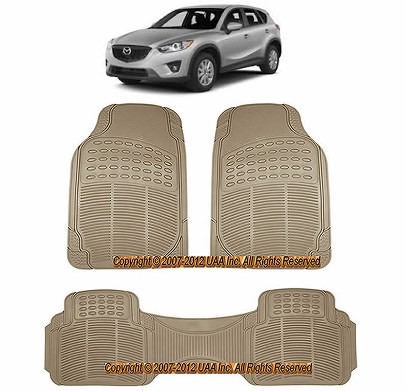 3pc All Weather Beige Rubber Floor Mats Set For Mazda Cx 7 Protege 5 7 Ebay