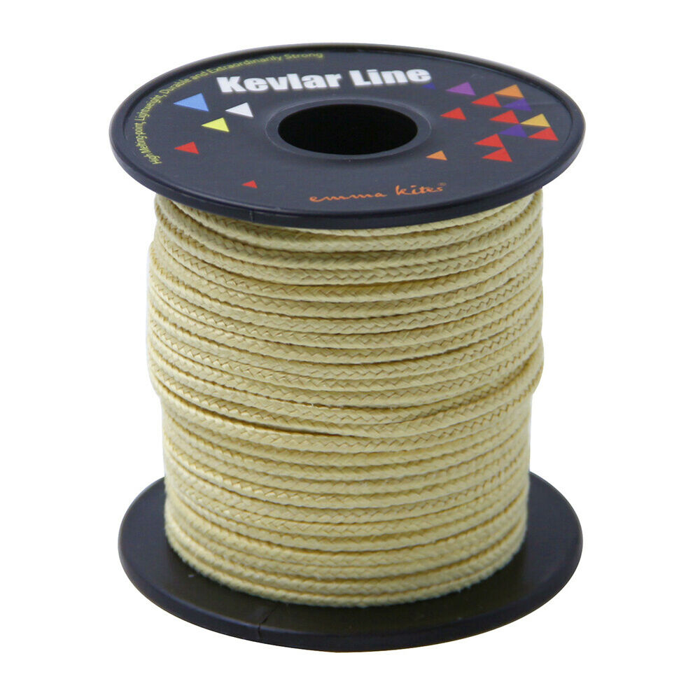 Heavy duty 50ft 1500lbs braided kevlar line camping hiking for Kevlar fishing line