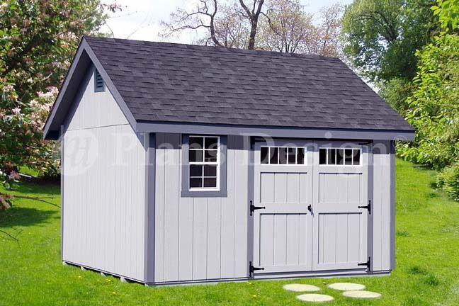 Shed plans outdoor building blueprints 12 39 x 12 39 gable for Gable shed plans