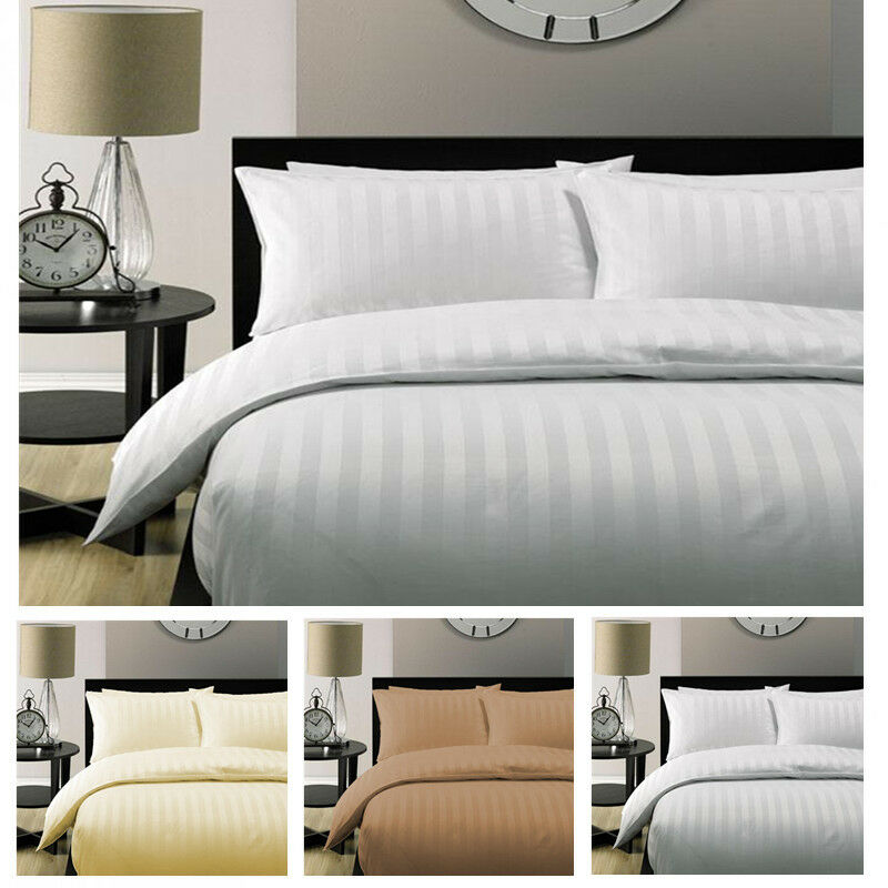 Hilton Hotel Collection Bedding: 5 Star Hotel Quality 2CM STRIPE Luxury Quilt Duvet Cover