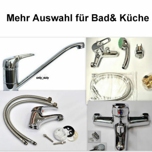bad k che mischbatterie bad wannen armatur m handbrause wasserhahn hahn chrom ebay. Black Bedroom Furniture Sets. Home Design Ideas