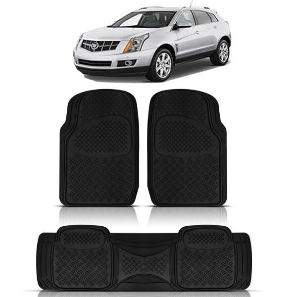 3pc Heavy Duty Front Rear Ack Rubber Floor Mats For