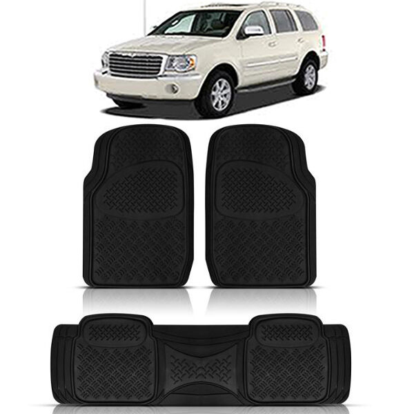 3PC HEAVY DUTY ACK RUBBER FLOOR MATS For CHRYSLER ASPEN