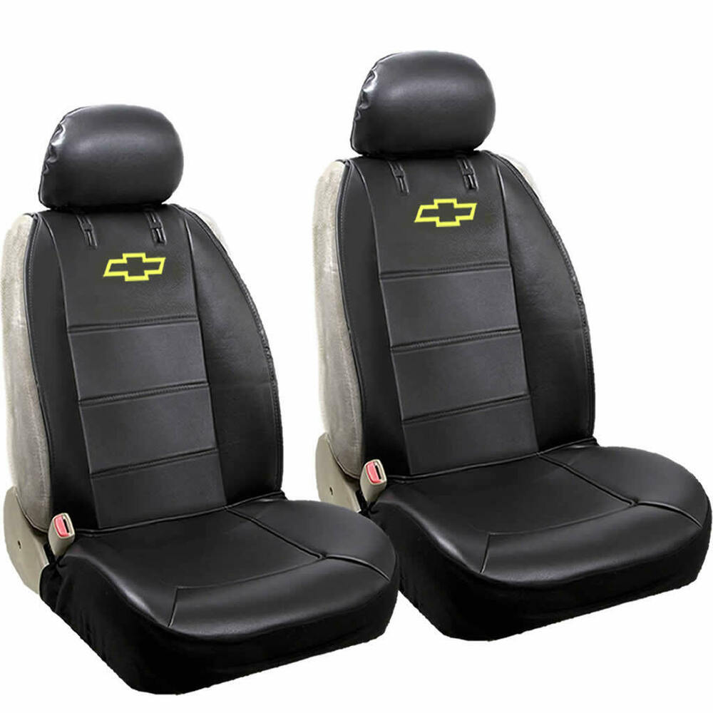 Chevy Elite Original Black Synthetic Leather Sideless Seat