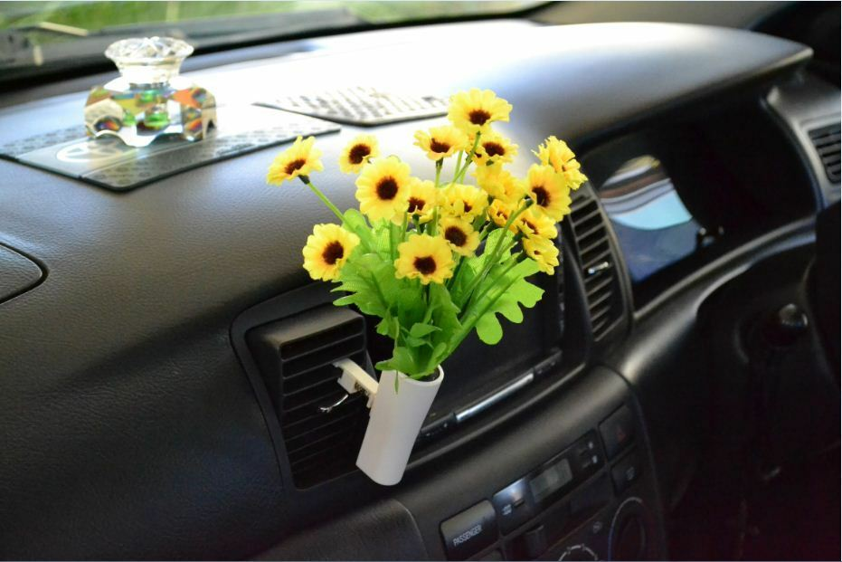 Car Van Truck Flower Decor Interior Accessories Decals