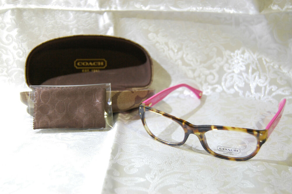 Authentic Coach Light Brown/Fuchsia Pink Glasses Frames ...