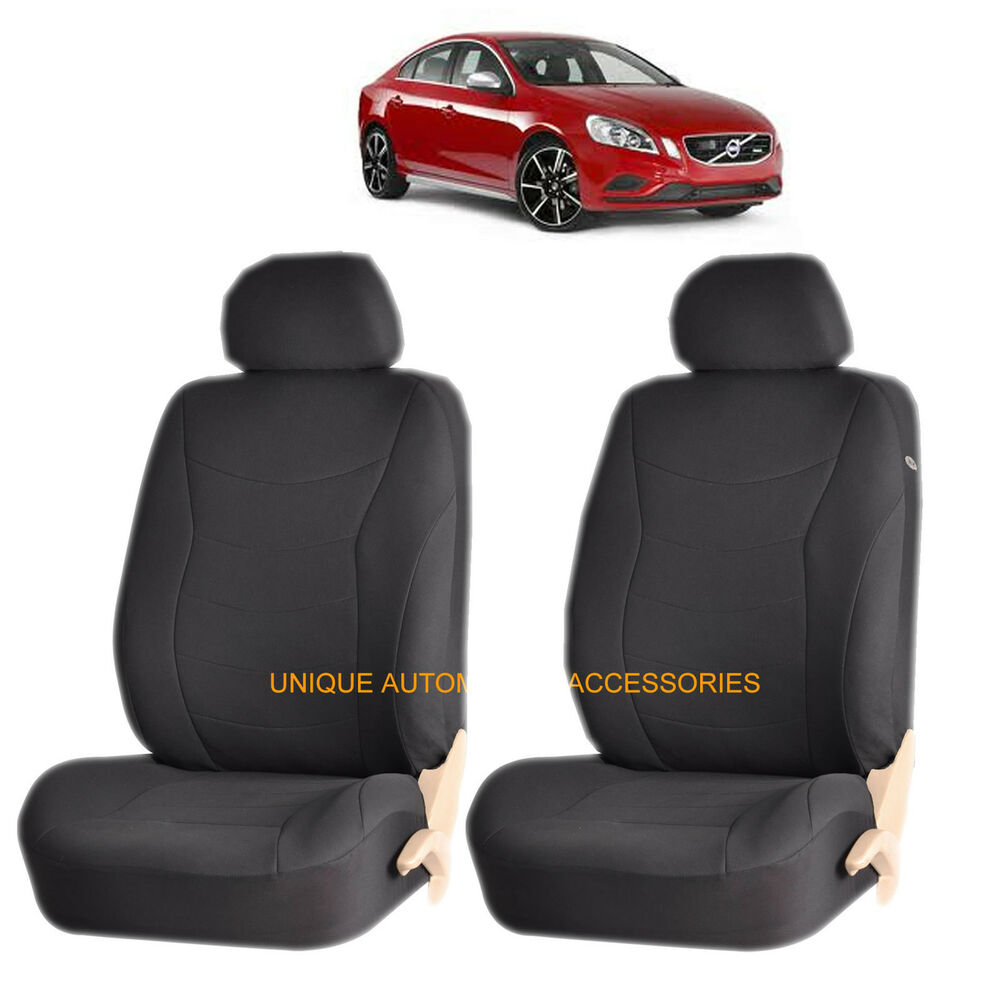 black speed airbag compatible lowback seat cover set for volvo c30 s40 xc 70 ebay. Black Bedroom Furniture Sets. Home Design Ideas