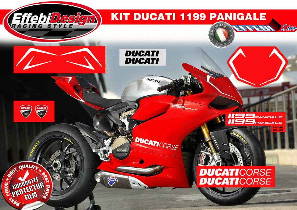 AdesiviStickers Kit DUCATI PANIGALE S R FACTORY CORSE - Ducati motorcycles stickers