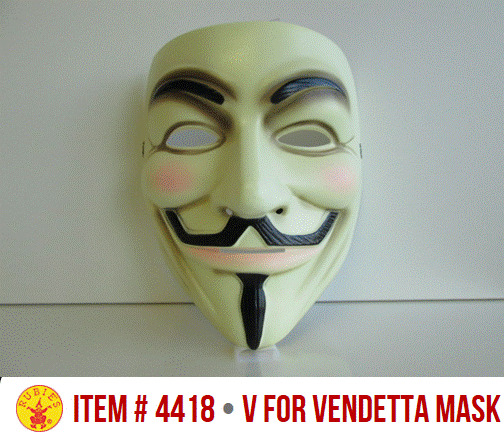An emblem that is commonly associated with Anonymous. without using the well-known mask as a Anonymous Official