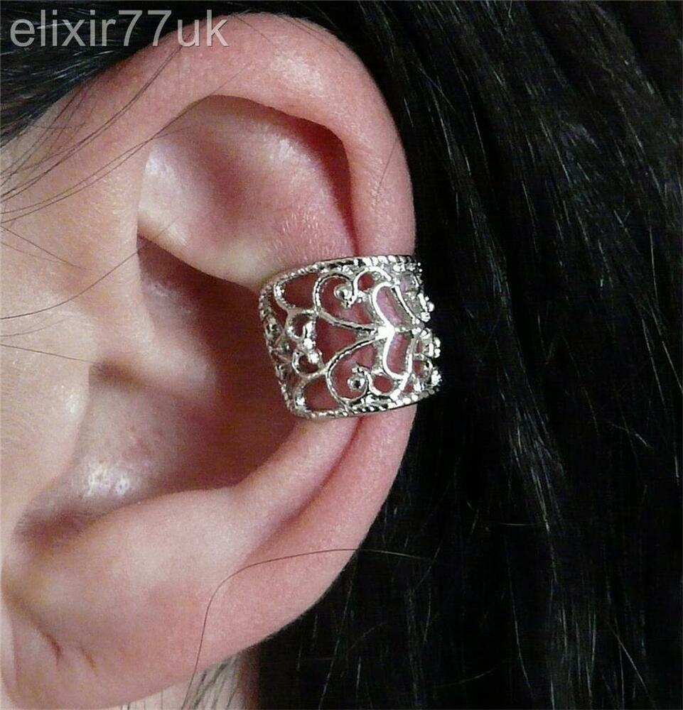 clip on cartilage earrings uk new silver cartilage ear cuff clip on 2329