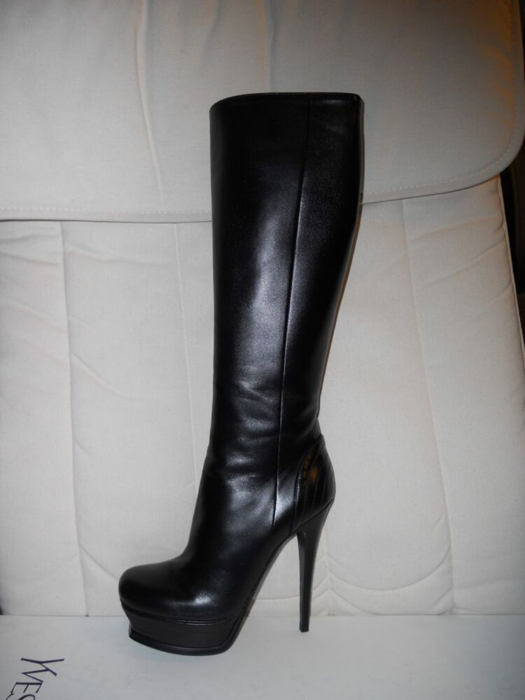ysl yves laurent tribute 105 leather knee high