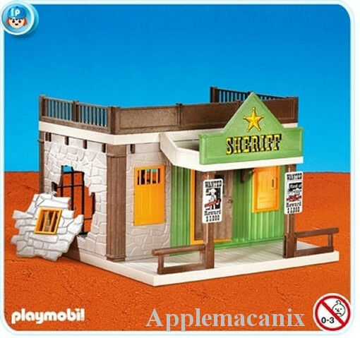 NEW Playmobil Vintage Western Sheriff's Office Jail/House ...