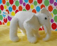 PRINTED INSTRUCTIONS-EDDIE THE WHITE ELEPHANT NURSERY TOY KNITTING PATTERN