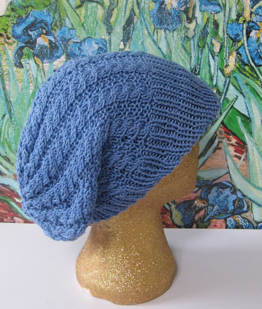 Easy Knitting Patterns Instructions : Printed instructions iris peak easy cable slouch beanie