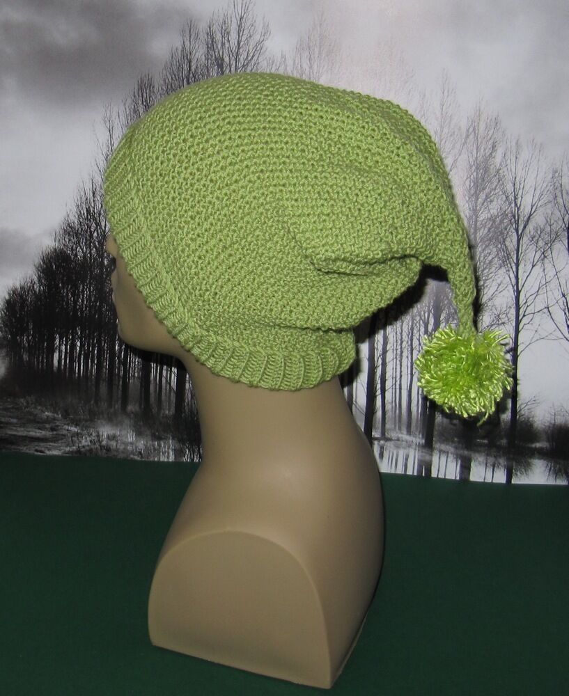 PRINTED KNITTING INSTRUCTIONS-MOSS ST PIXIE BOBBLE SLOUCH HAT KNITTING PATTER...