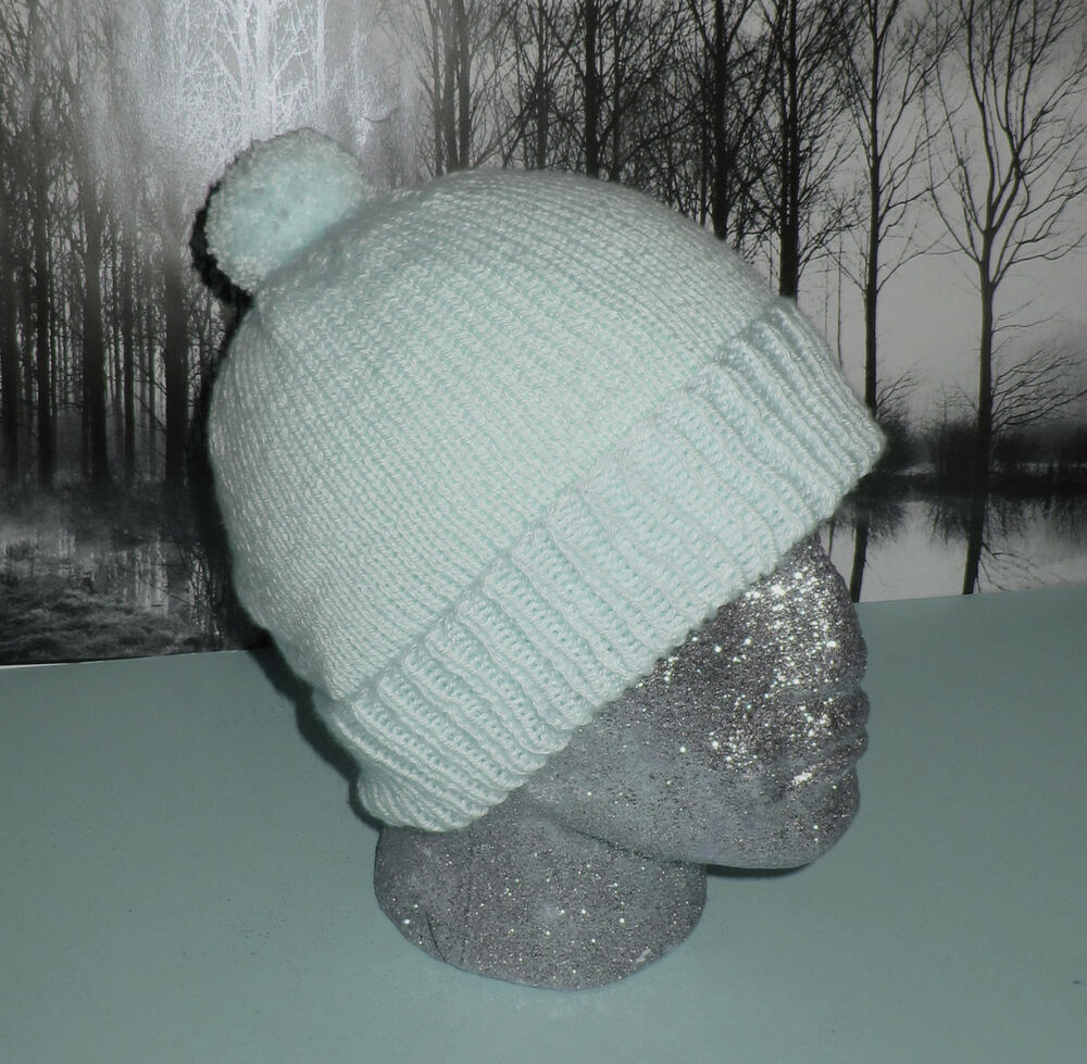 Knitting Pattern For Bobble Hat : PRINTED KNITTING INSTRUCTIONS-SIMPLE BOBBLE BEANIE POM POM HAT KNITTING PATTE...
