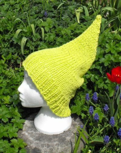 PRINTED KNITTING INSTRUCTIONS-GARDEN GNOME PIXIE ELF HAT ...