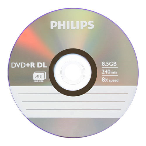 15 philips logo blank dvd r dvdr dual double layer dl disc. Black Bedroom Furniture Sets. Home Design Ideas