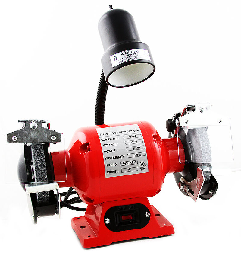 Shop Lights Sears: Professional Grade 8 Inch Bench Grinder W Flexible Light