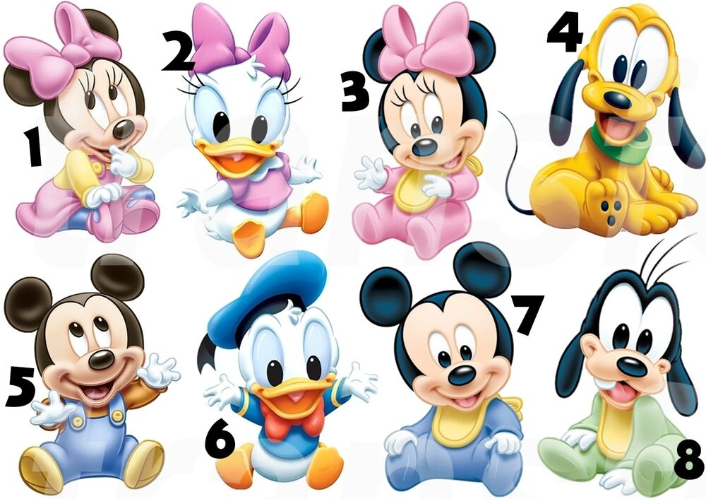 Mickey mouse bebe sticker autocollant ou transfert textile vetement t shirt 2 ebay - Photo minnie et mickey bebe ...