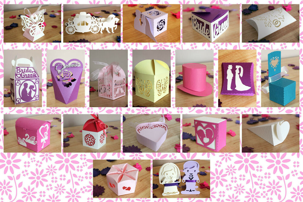 craft robo silhouette wedding favour box templates cd113 from cocopopart ebay. Black Bedroom Furniture Sets. Home Design Ideas