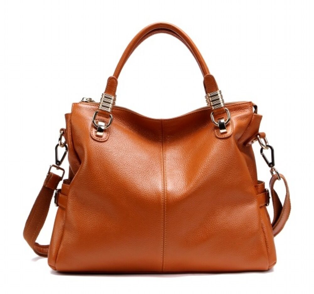 Genuine Leather Real Leather Tote Shoulder Bag Purse Hobo