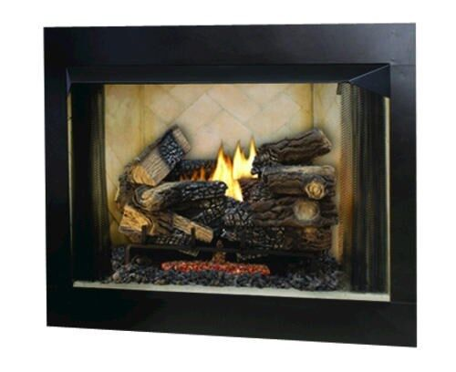 fmi 36 bavarian paneled vent free fireplace insert w refractory panels ebay. Black Bedroom Furniture Sets. Home Design Ideas