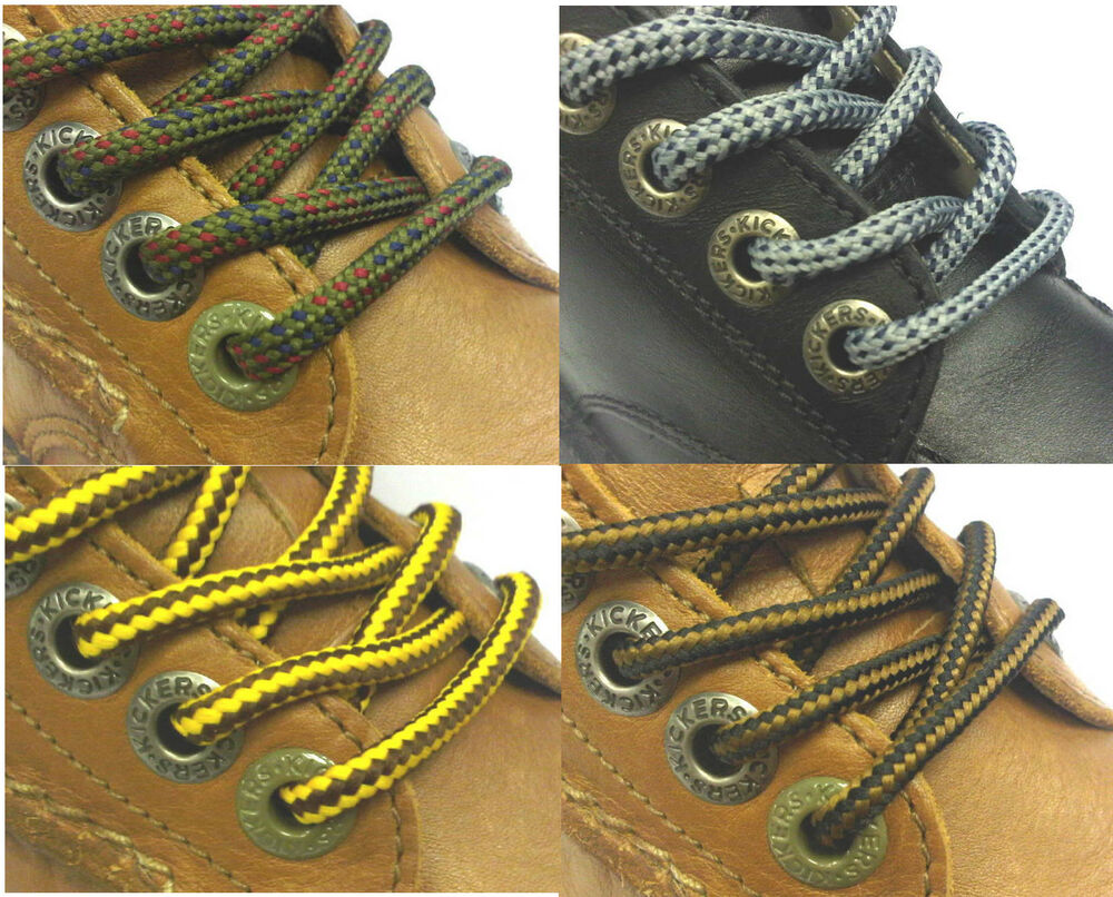 Boot Laces 140 Cm 55 In Black Brown Grey Navy Olive Hiking Long Round Shoelaces Ebay