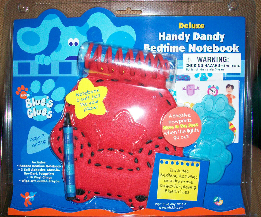 Blues Clues Deluxe Handy Dandy Notebook, Brand New Sealed