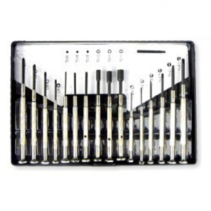 precision mini jeweler 39 s screwdriver set watch glasses ebay. Black Bedroom Furniture Sets. Home Design Ideas