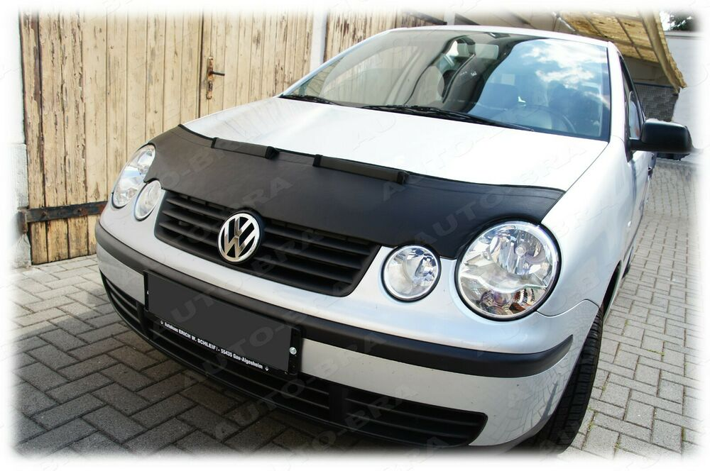 vw polo 9n mk4 bonnet bra stoneguard protector ebay. Black Bedroom Furniture Sets. Home Design Ideas