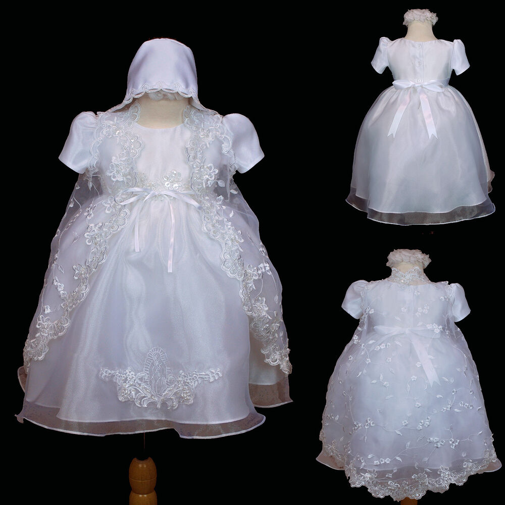 New Baby Girl Christening Baptism Formal Dress Gown New ...