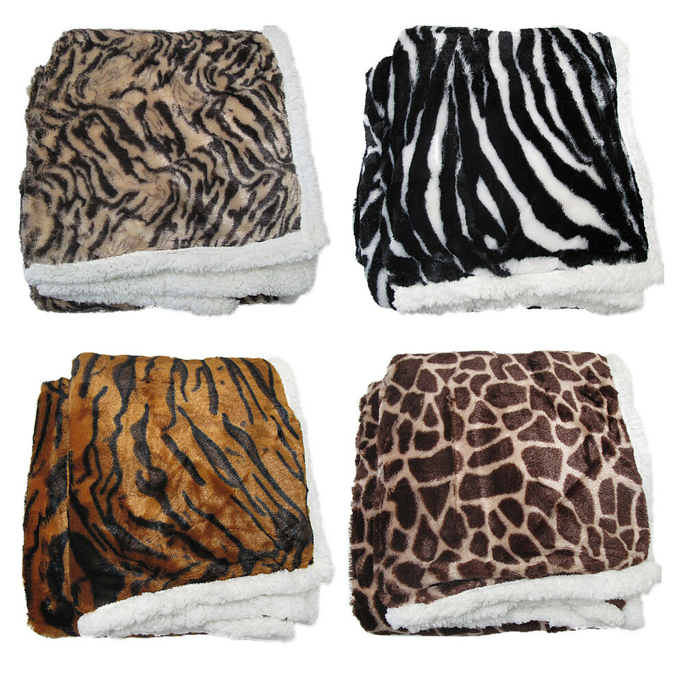 Leopard Zebra Tiger Giraffe Luxurious Faux Fur