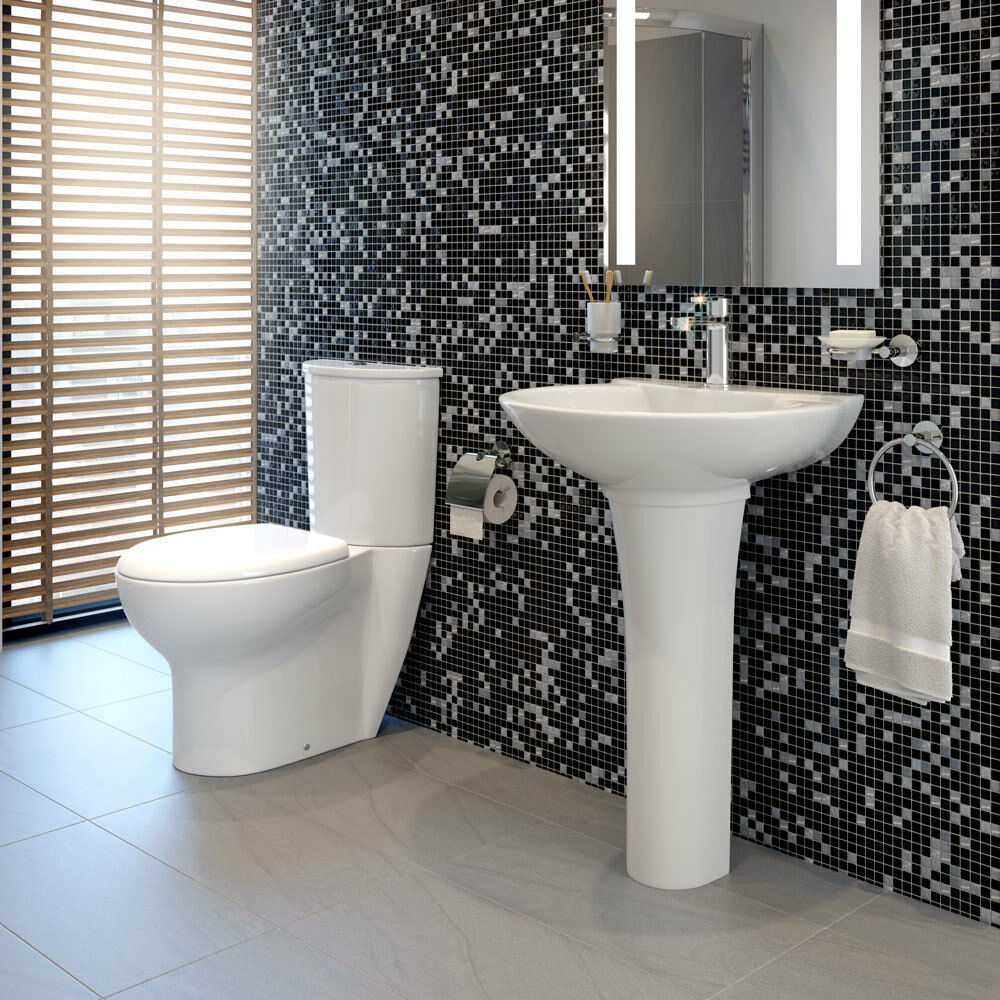Toilet Basin Sink Bathroom Suite Wc Close Coupled Pan Full