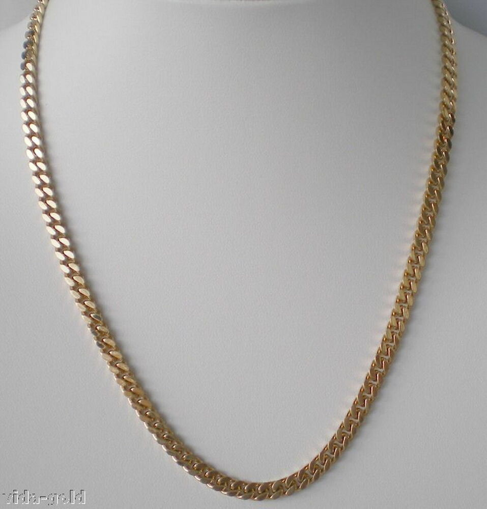 24k Gold Plated 5 Mm Miami Cuban Link Chain Lifetime Warranty Ebay