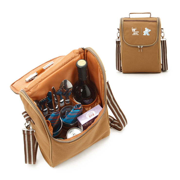 Outdoor Picnic Set For Two Insulated Lunch Bag Crossbody