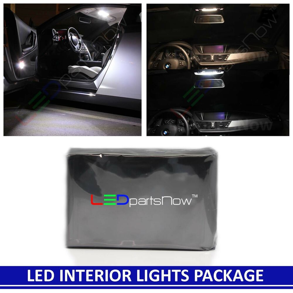 2x Bright White 9-SMD LED Panel Lights For Interior Map