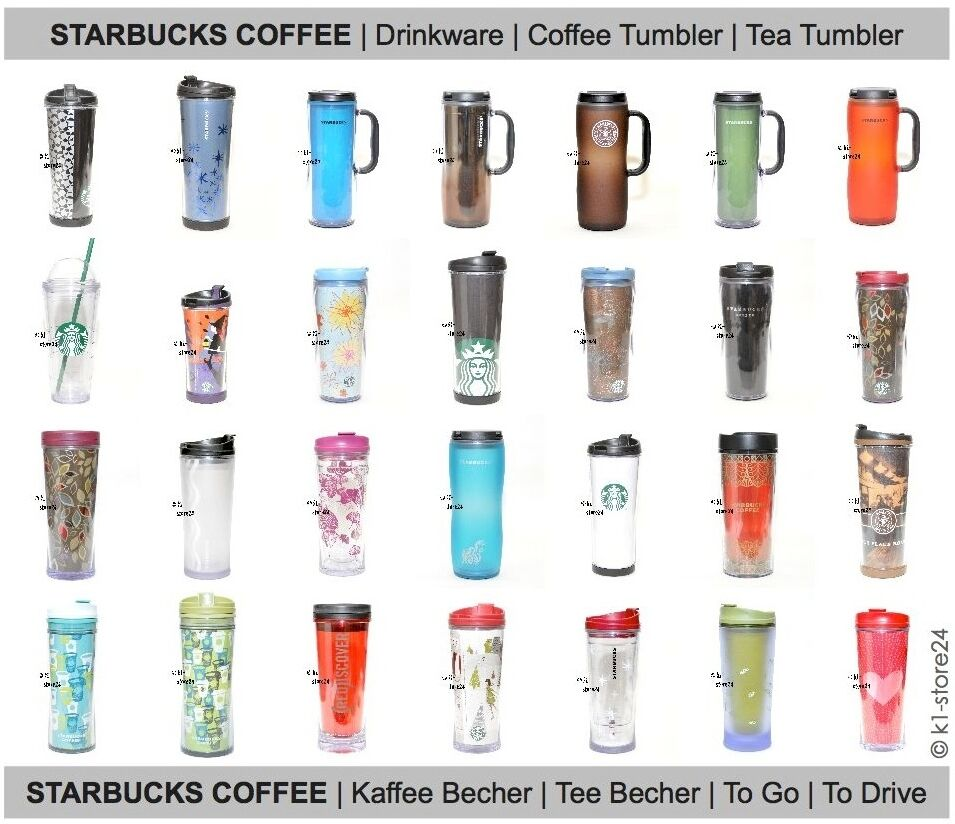 starbucks coffee tumbler thermobecher kaffeebecher reise becher travel mug to go ebay. Black Bedroom Furniture Sets. Home Design Ideas