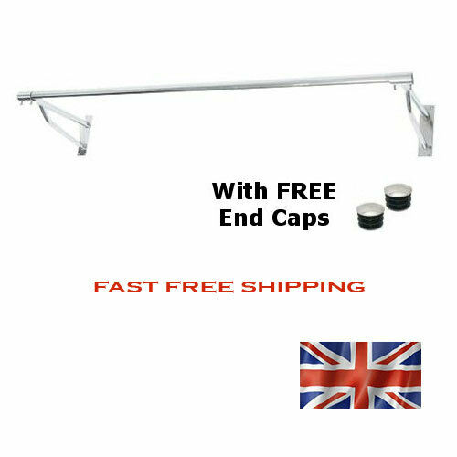Wall Mounted Garment Rail 1 22m Chrome Not Painted So No