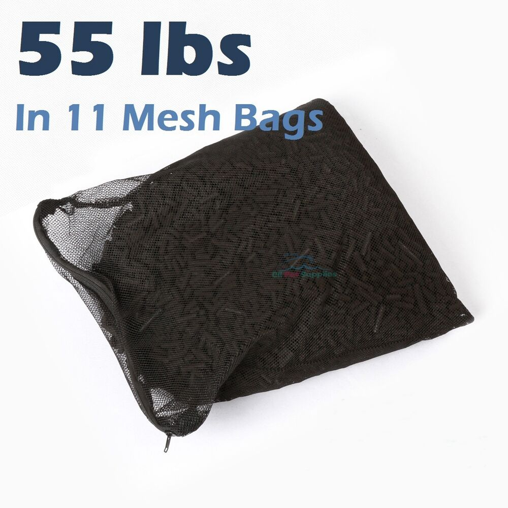 55 lbs activated carbon in 11 media bags for aquarium fish for Pond filter bag