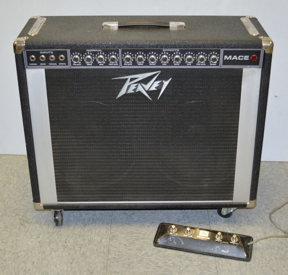 peavey 212 mace guitar combo amp all tubes 6l6gc tube amplifier w footswitch ebay. Black Bedroom Furniture Sets. Home Design Ideas