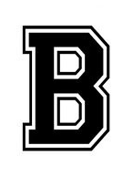 varsity college lettering letter b car tablet vinyl decal ebay. Black Bedroom Furniture Sets. Home Design Ideas