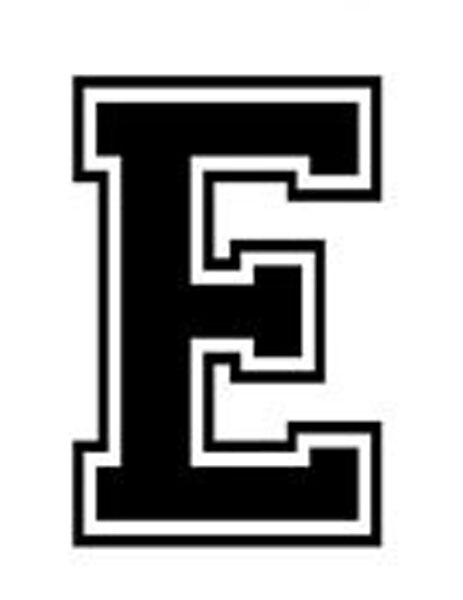 E Car >> Varsity College Lettering - Letter E - Car Tablet Vinyl Decal | eBay