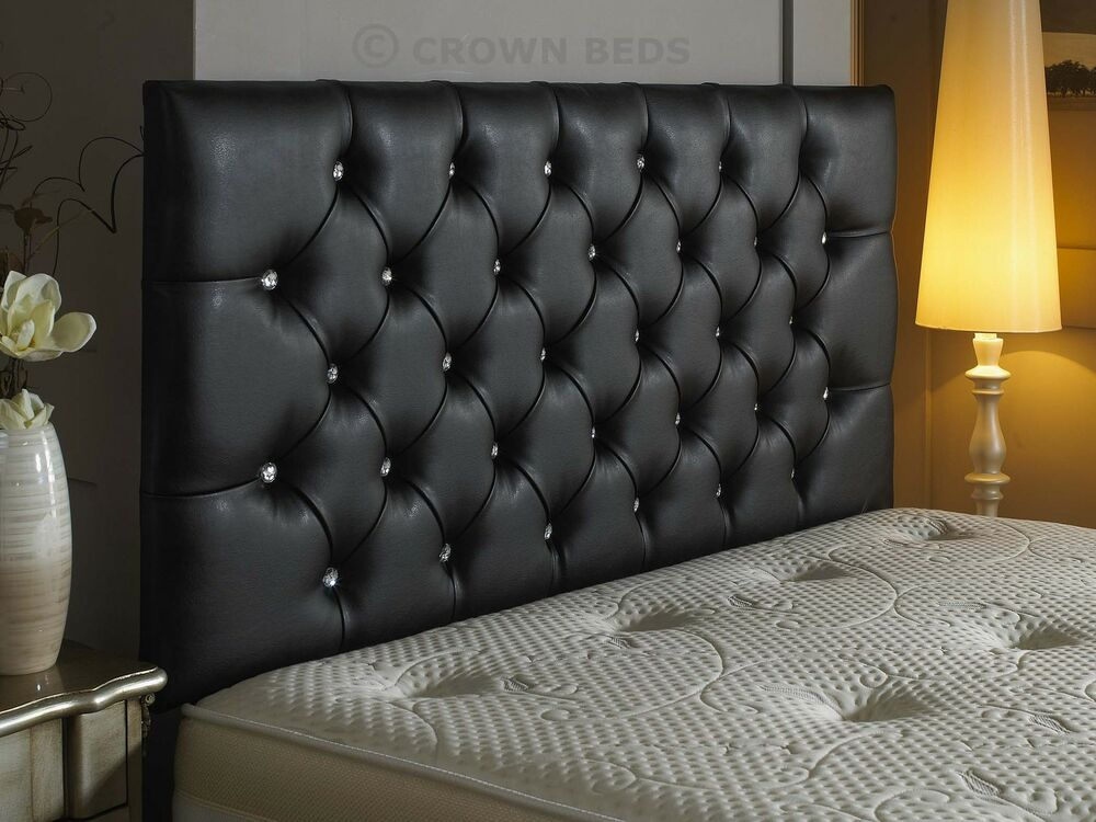 Top Quality Diamante Faux Leather Headboard 26 Inch Height Best Price On Ebay
