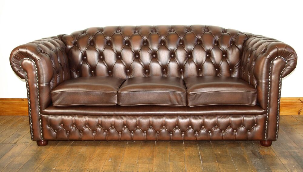 chesterfield leather sofa suite brand new sale ebay. Black Bedroom Furniture Sets. Home Design Ideas