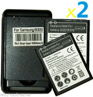 2 X replacement battery and Wall USB Charger for Samsung Galaxy S 3 III i9300