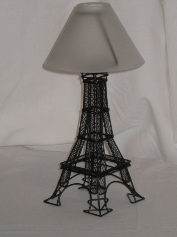 Metal Eiffel Tower Tealight Candle Holder With A Frosted