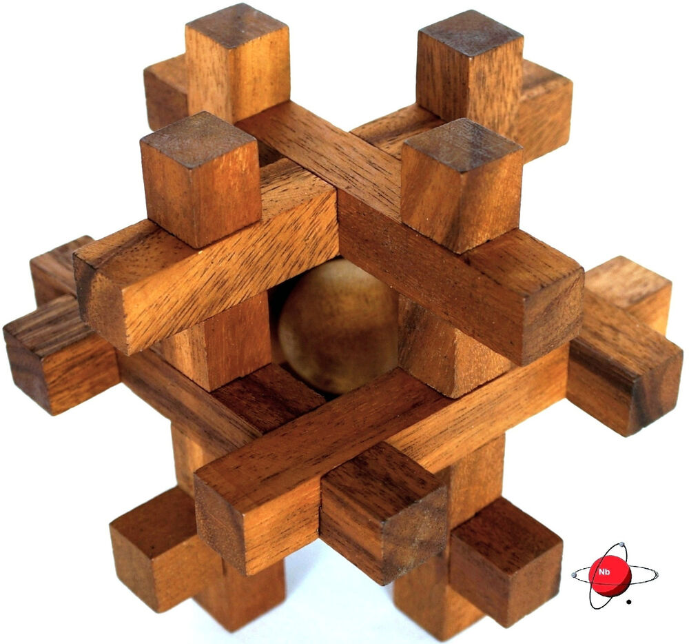 how to solve a wooden brain teaser puzzle