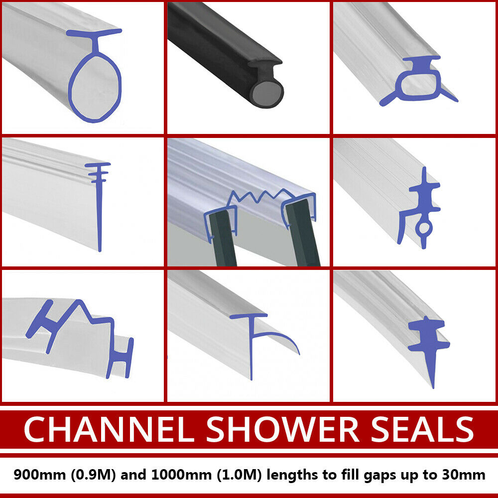 Bathroom Glass Door Rubber: PVC Soft Rubber Shower Seal Extrusion